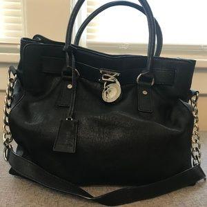 MK Large Lock Key Black Bag